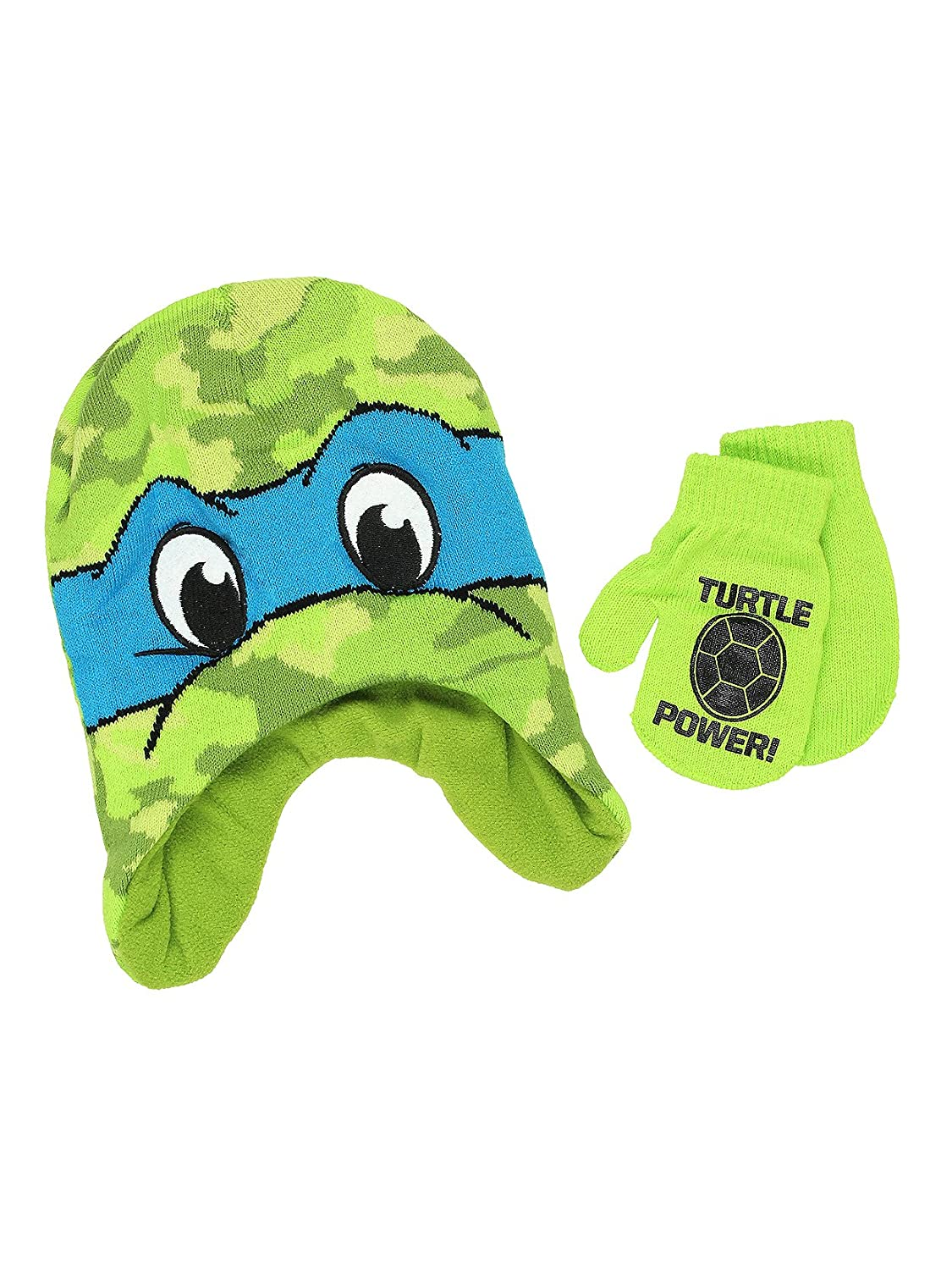 Teenage Mutant Ninja Turtles Boys Beanie Hat and Mittens Set (One Size) manufacturer