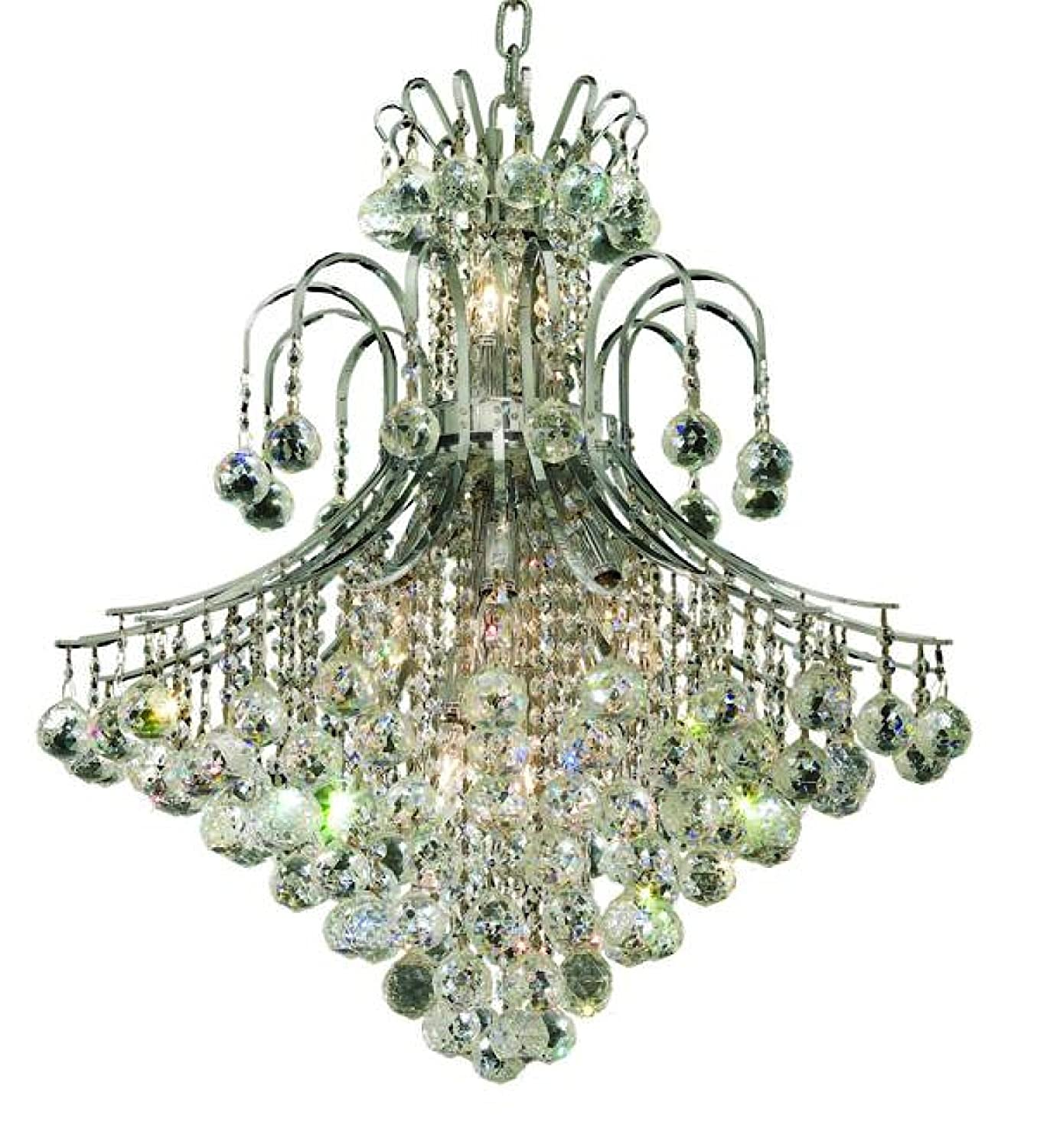 Elegant lighting 8003d25crc toureg 31 inch high 15 light elegant lighting 8003d25crc toureg 31 inch high 15 light chandelier chrome finish with crystal clear royal cut rc crystal amazon arubaitofo Choice Image