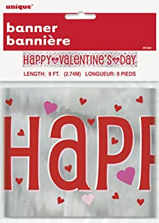Unique Party 91102 6ft Happy Valentine S Day Banner Amazon Co Uk