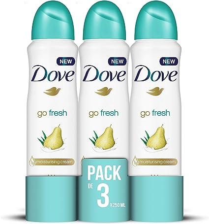 Dove Pera y Aloe Vera Desodorante Aerosol 250ml - [Pack de 3 ...