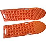 MAXSA Innovations 20334 Orange Connectable Escaper Buddy Traction Mats for Sand, Mud, Ice and Snow, 2 Pack