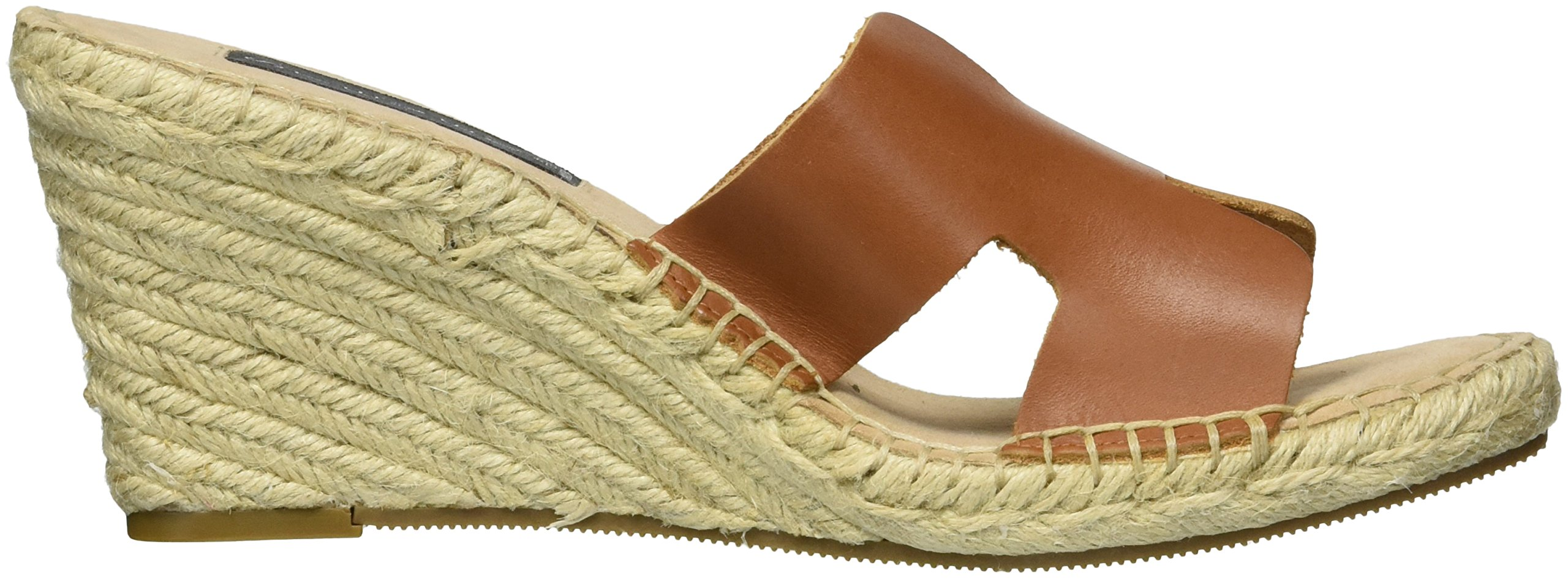 40873a3e672 STEVEN by Steve Madden Women's Eryk Wedge Sandal, Cognac Leather, 7 ...