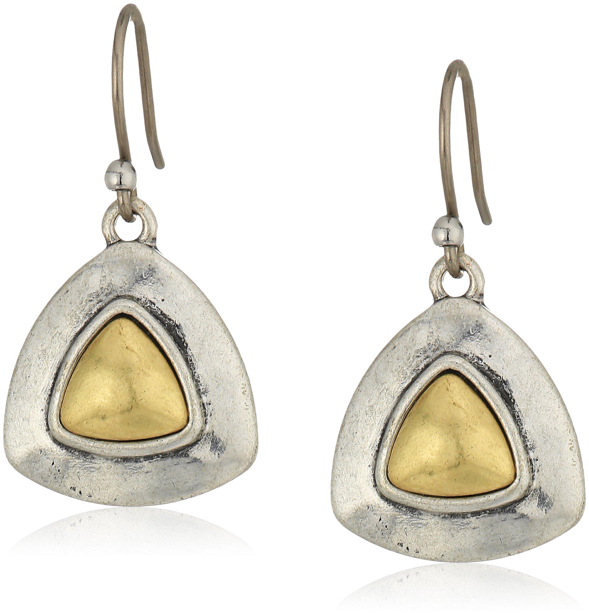 Lucky Brand Two Tone Drop Earrings