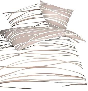 Kaeppel Mako Satin Bettwäsche Essential Motion Größe 135x20080x80