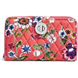 Vera Bradley womens 21951 Rfid Turnlock Wallet- Signature