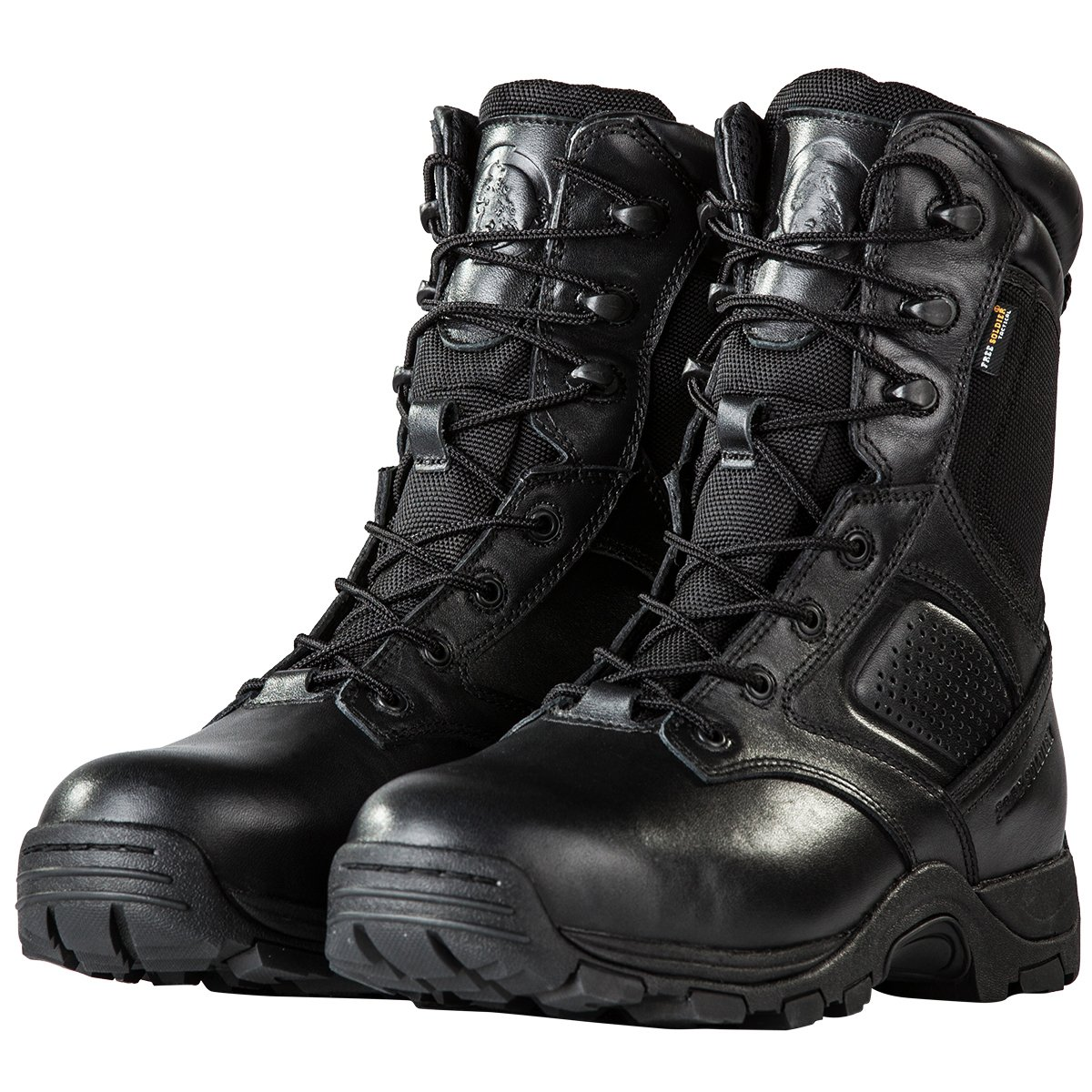 FREE SOLDIER Steel Toe Work Boots for Men Waterproof Insulated Composite Boots Tactical Combat Boots(Black 10.5)