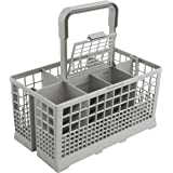 Universal Dishwasher Cutlery Basket (9.5 x 5.4 x 4.8 inches) Compatible with Kenmore, Whirlpool, Bosch, Maytag…
