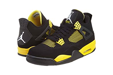 Air Jordan 4 Retro (Thunder) Black/White-Tour Yellow (8.5)