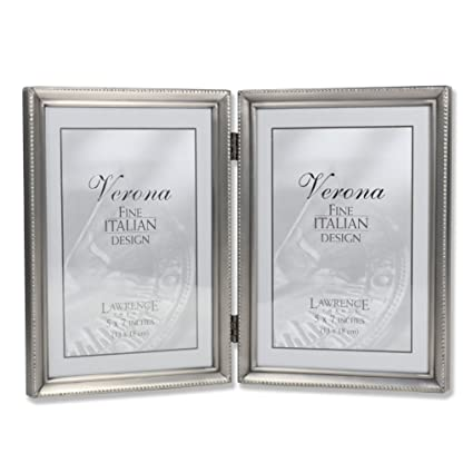Amazon.com - Lawrence Frames Antique Pewter 5x7 Hinged Double ...