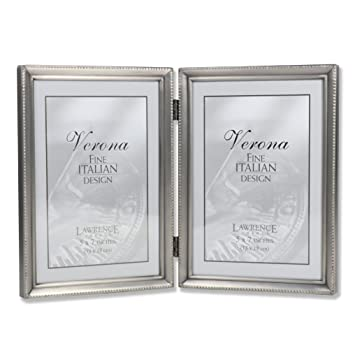 Amazoncom Lawrence Frames Antique Pewter 5x7 Hinged Double