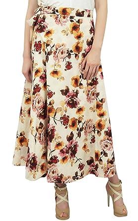 Phagun Impreso Floral Crema de algodón Reversible de Dos Capas ...