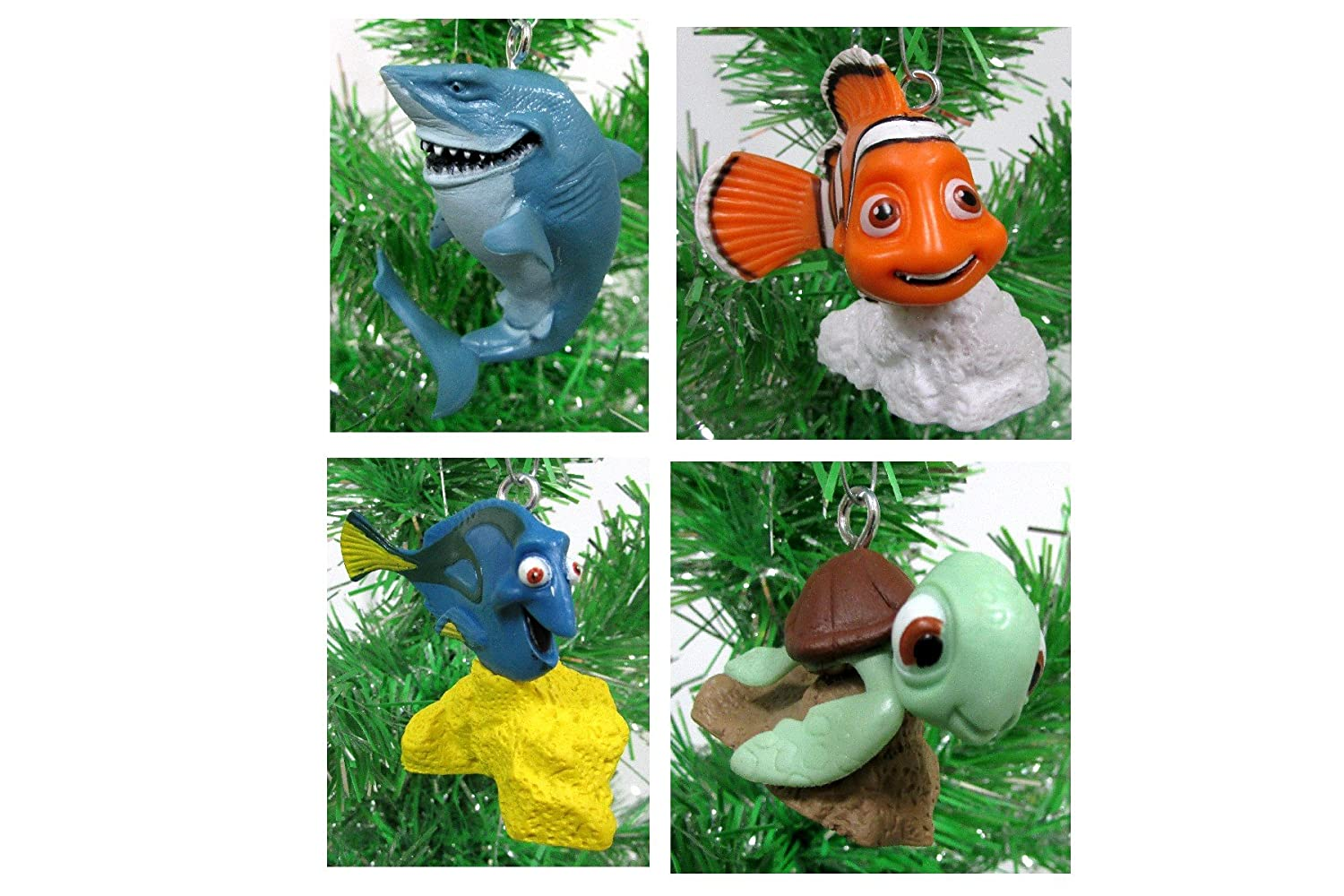 Finding Dory Finding Nemo Christmas Ornament Set - 2 to 3 Plastic Shatterproof Ornaments Perfect for Mini Desk Tree or Kids Tree by Finding Dory
