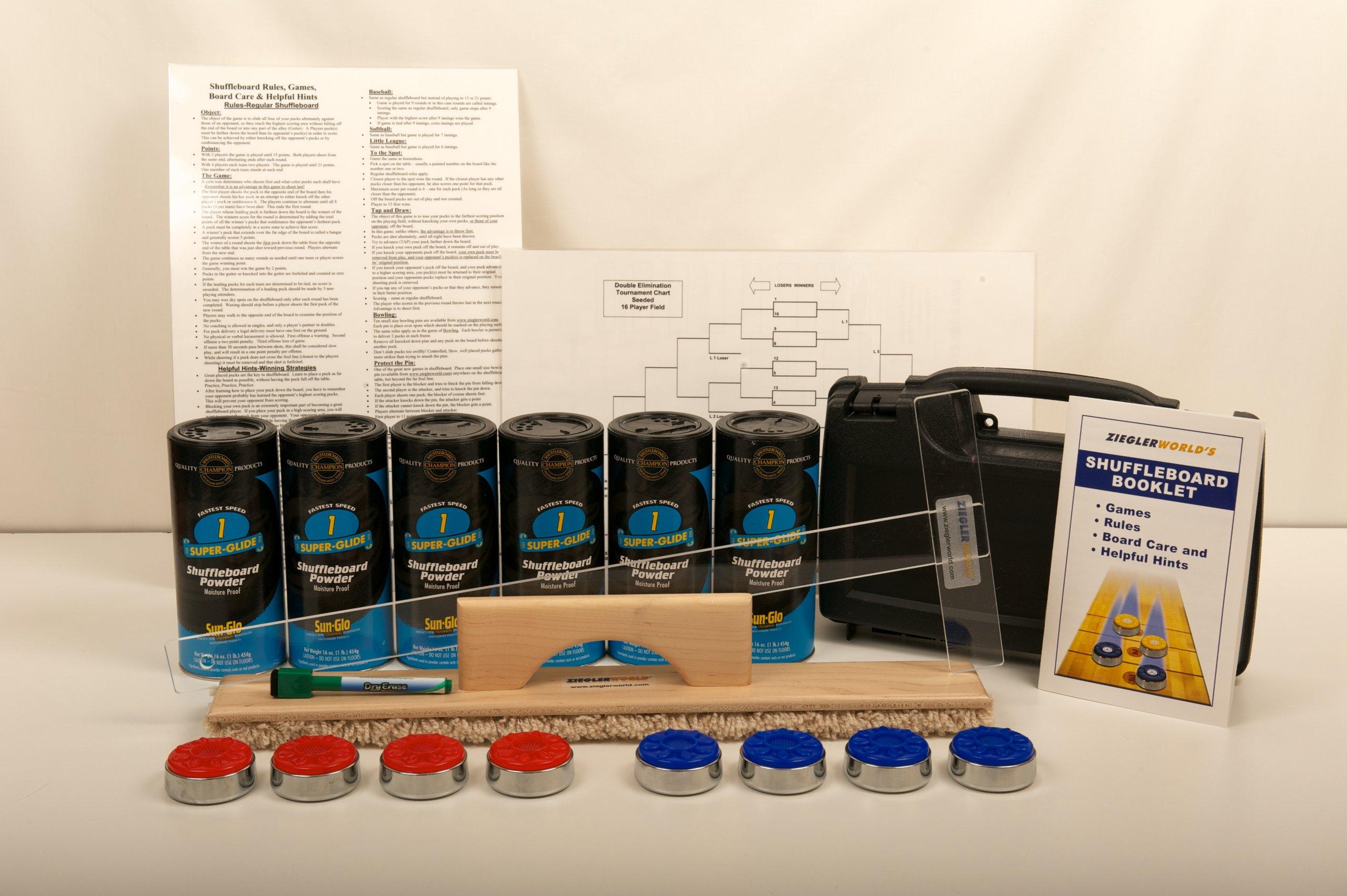 Table Shuffleboard Pucks Weights Starter Kit Package Deal!
