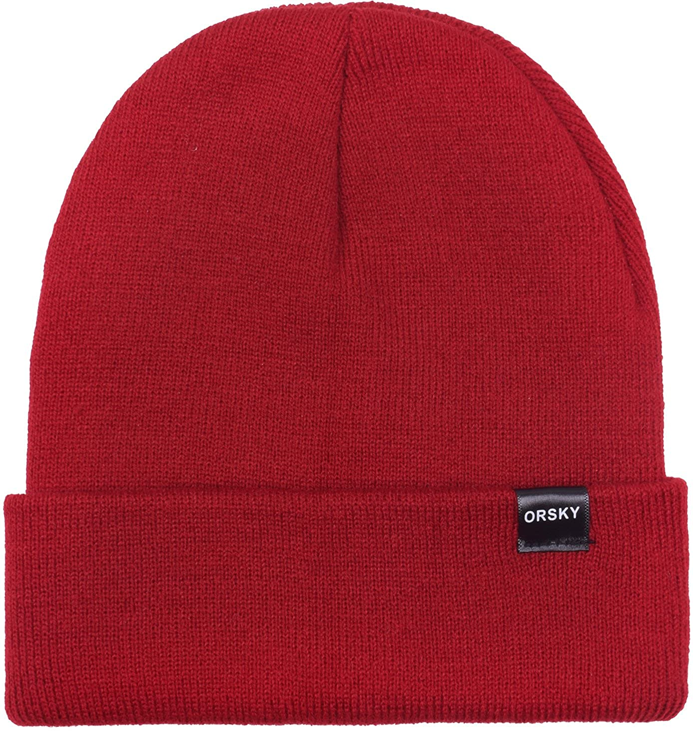 27581855029 Amazon.com  Funny Beanie Hats for Boys Girls Winter Warm Caps for Kids Soft  Cuff Dark Red  Clothing