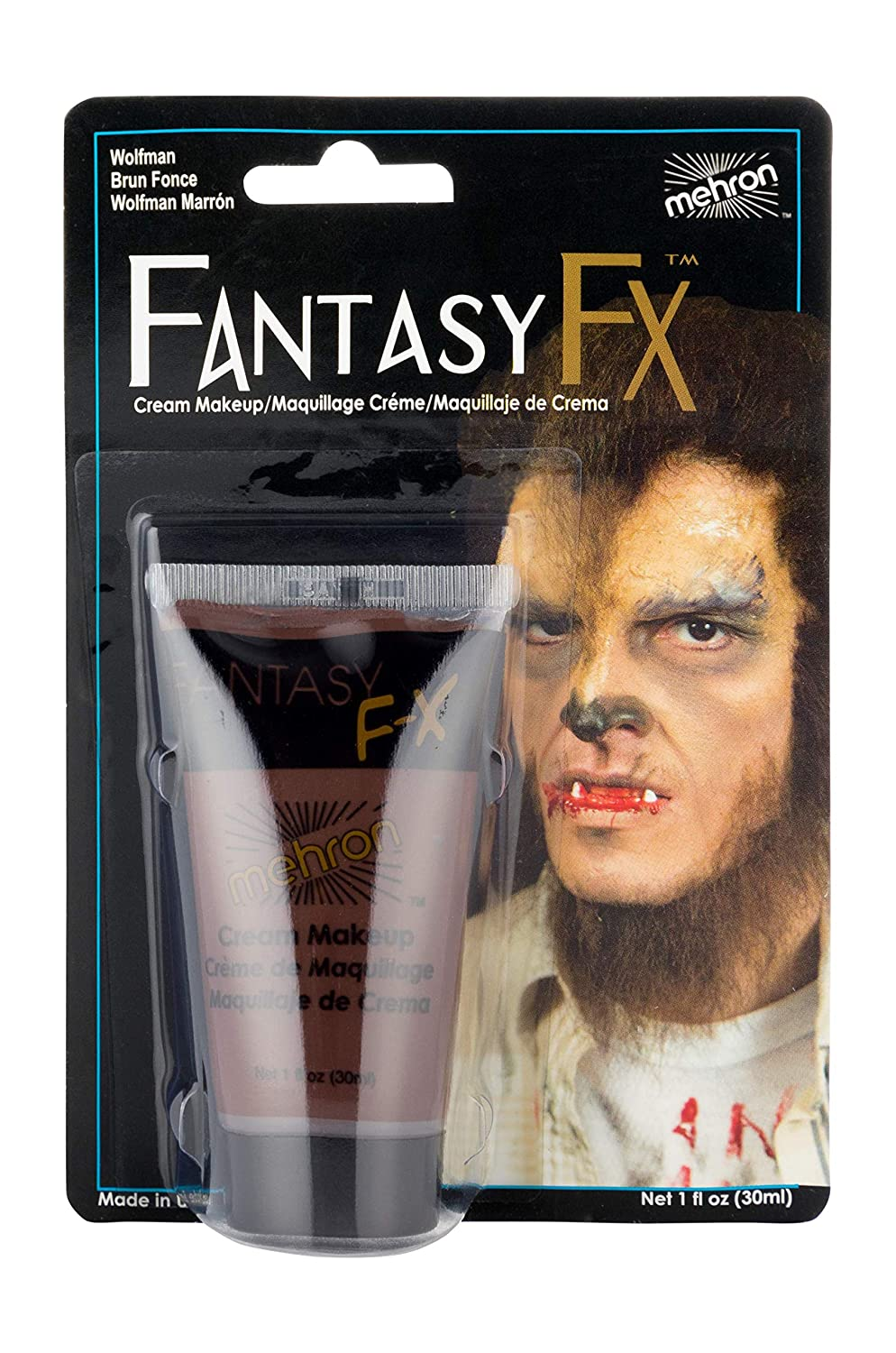 Mehron Makeup Fantasy F/X Water Based Face & Body Paint (1 oz) (GREEN) FFX-G