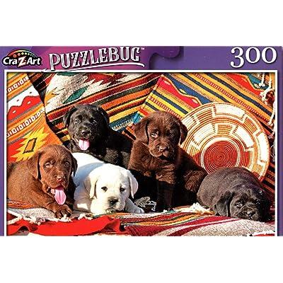 Five Labrador Retriever Amigos - 300 Pieces Jigsaw Puzzle: Toys & Games