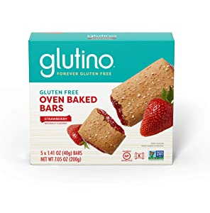 Gluten Free by Glutino Oven Baked Bar, Strawberry, Naturally Flavored, 5 Count