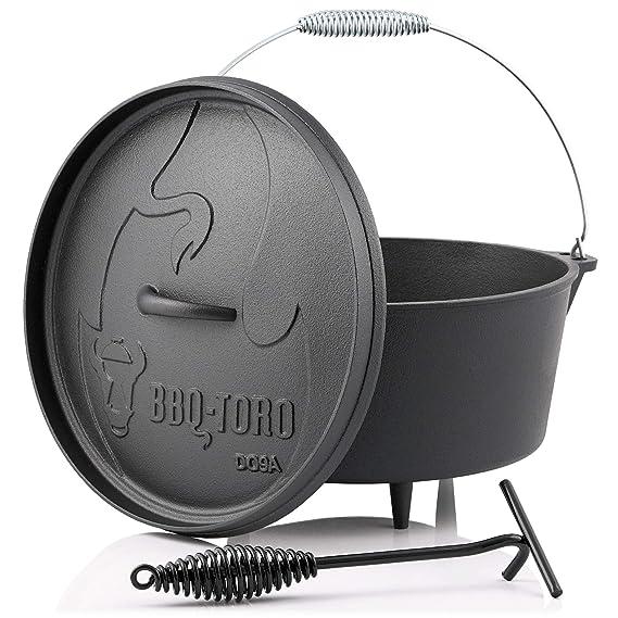 DO14 Dutch Oven Topf Gusstopf Kochtopf aus Gusseisen Br/äter