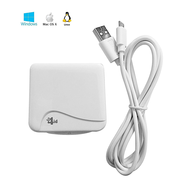 NUOVO versione 2018!! Bit4id miniLector EVO Indoor USB 2.0 White smart card reader - smart card readers - Nuova Versione(USB 2.0, 67 mm, 10 mm, 66 mm, 50 mA, 5 V)