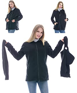06718e7fedea9 Smallshow Women's Fleece Zip Up Maternity Baby Carrier Hoodie Sweatshirt  Jacket