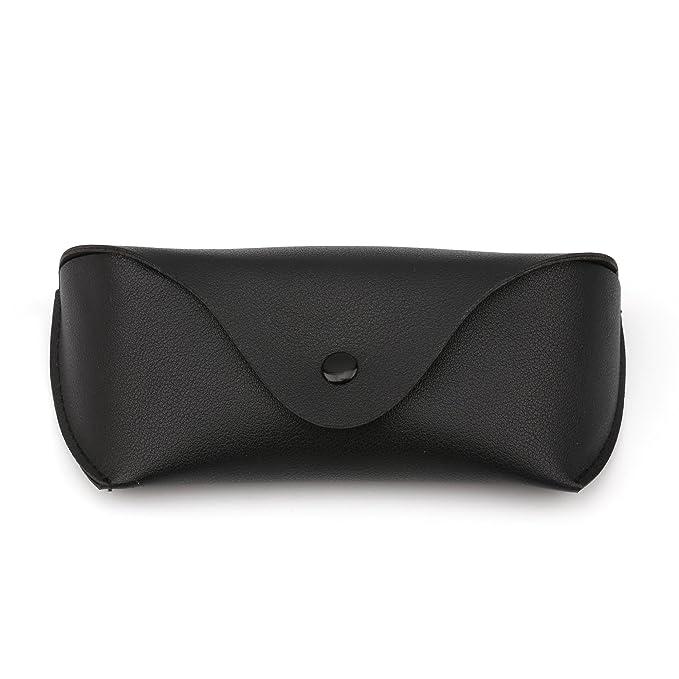 JIM HALO Funda de Gafas de Sol de Cuero PU Vintage Portátil Estuche de Anteojos Para Hombre Mujer QFLi5UBGUs
