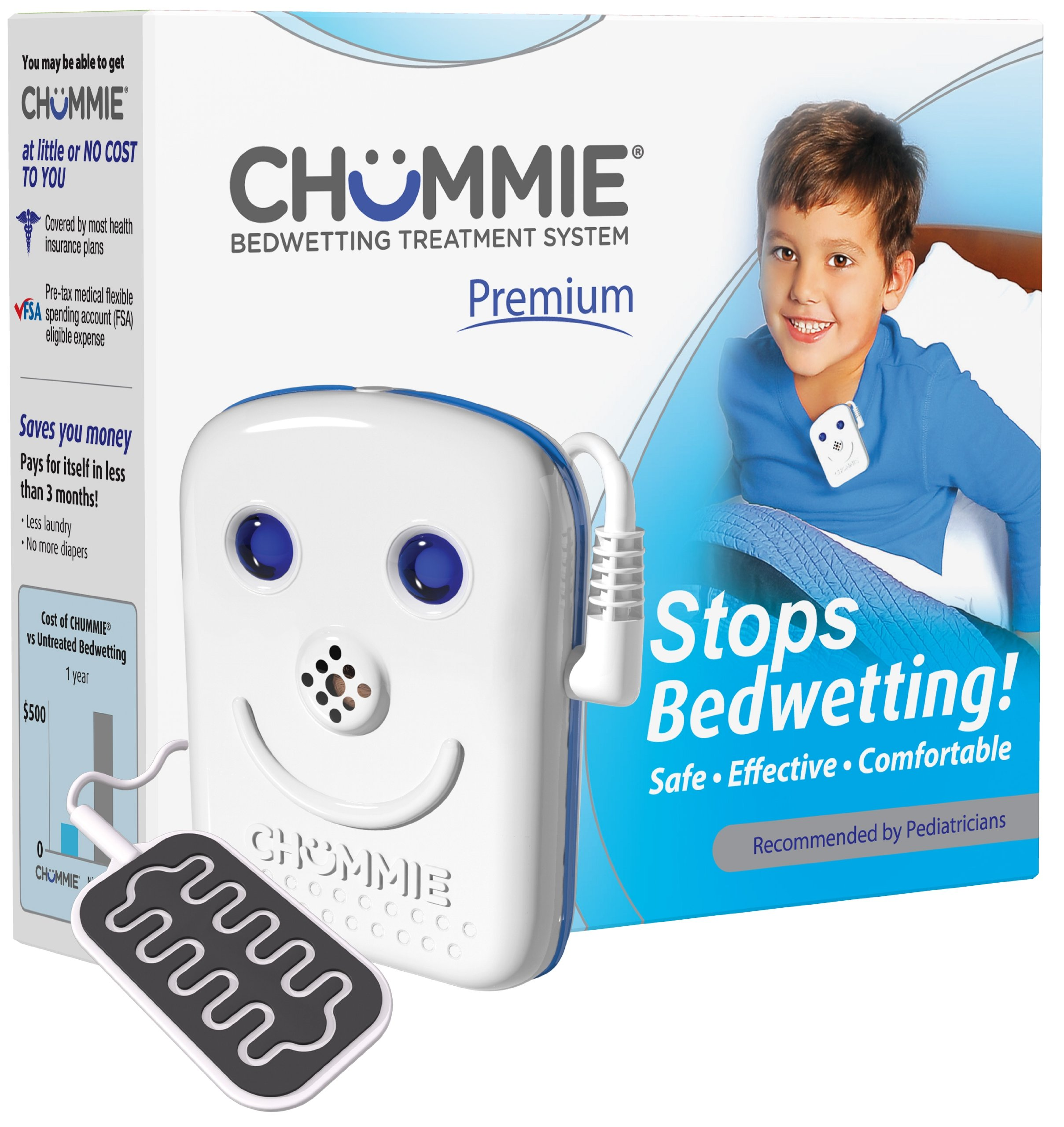 Chummie Premium Bedwetting Alarm with 8 Tones- Blue
