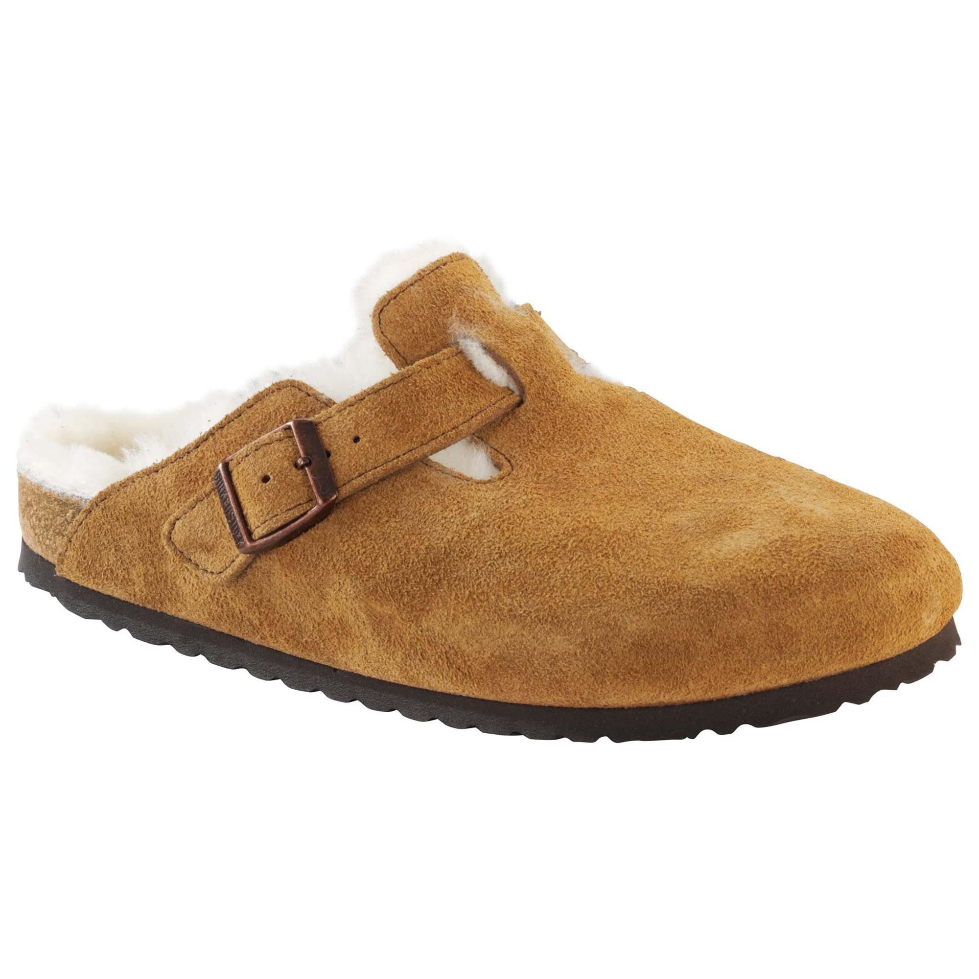 Birkenstock Boston Mink Shearling Suede Clogs 41 M (US Women's 10-10.5)