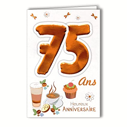 Age MV 69 - 2041 tarjeta 75 cumpleaños hombre mujer diseño ...