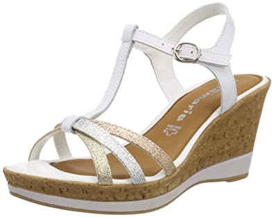 Tamaris T-bar sandals - white