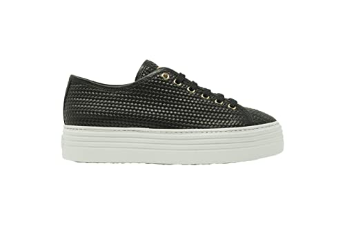 SNEAKERS STOKTON 60D SCARPA DONNA VITELLO NERO INTRECCIO STILE SUPERGA