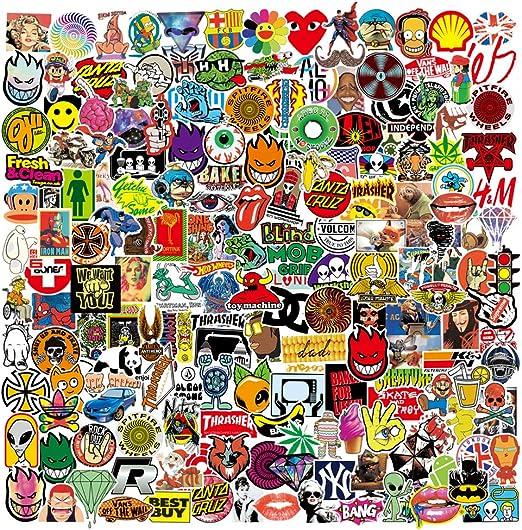 Prettysunshine Aufkleber Pack 200 Stück Coole Graffiti Sticker Decals Trendy Wasserdicht Vinyl Stickers Für Laptop Koffer Helm Motorrad Skateboard Auto Fahrrad Macbook Vintage Aesthetic Sticker Auto