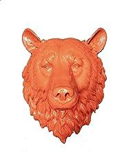 "Fake Orange Bear Head   Faux Taxidermy   Fake Orange Resin Bear Head Mount   Faux Taxidermy Studio (Orange, 17.5"" (H))"