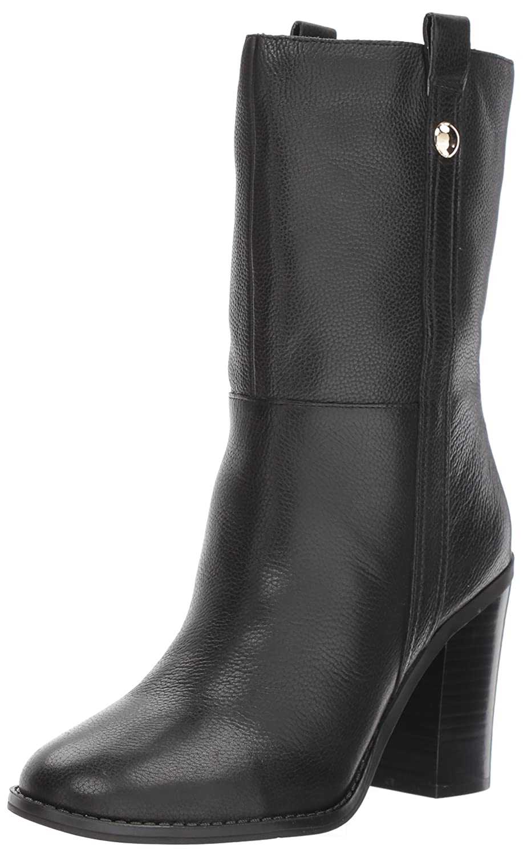 Nine West Women's Howl Leather Mid Calf Boot B071S43SLT 6 B(M) US|Black Leather