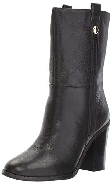Nine West Women s Howl Mid Calf Boot Black Leather 6 Medium US 41182d084daa