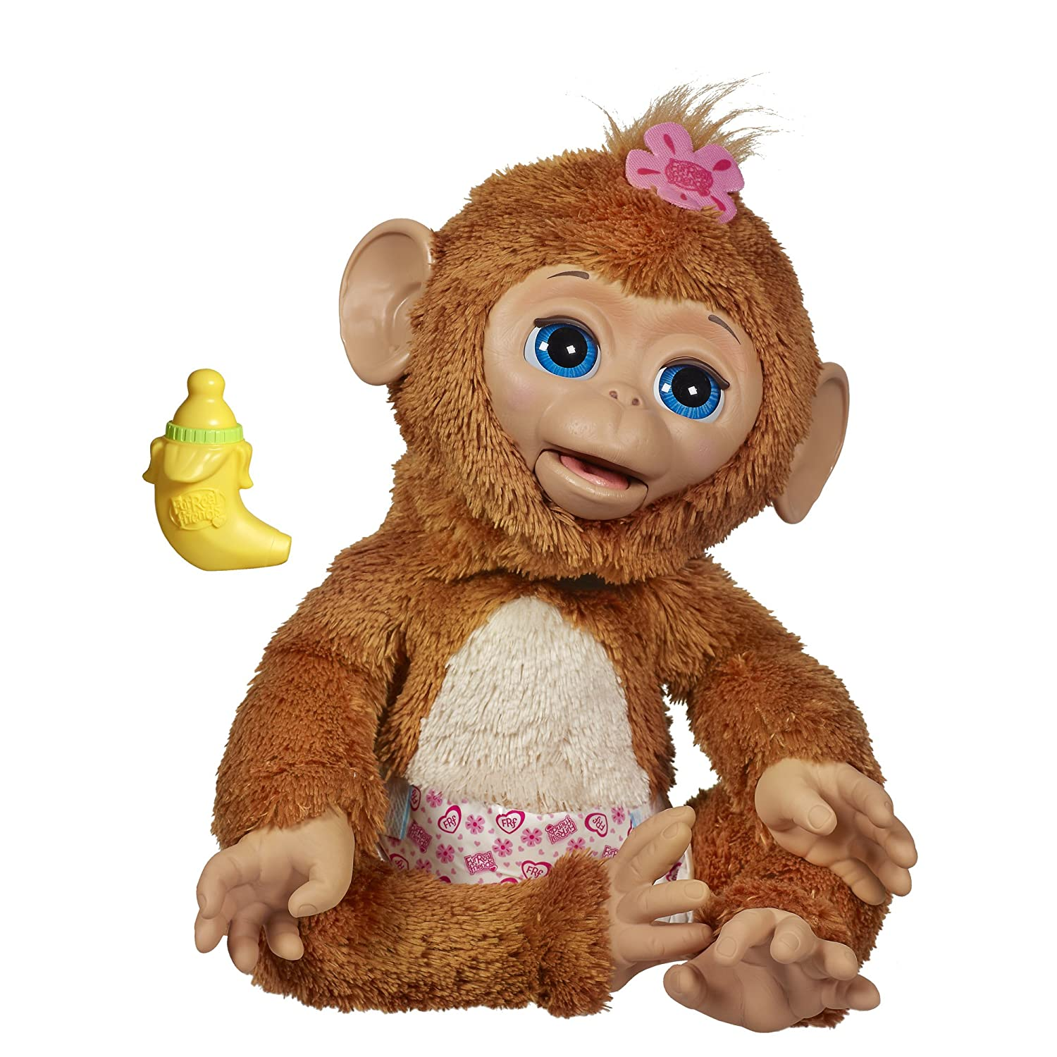 Furreal Friends Cuddles My Giggly Monkey pour animal domestique Hasbro A1650
