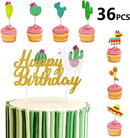Amazon.com: Sandeye - 36 decoraciones para tarta de ...