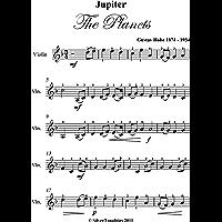 Jupiter The Planets Gustav Holst Easy Violin Sheet Music