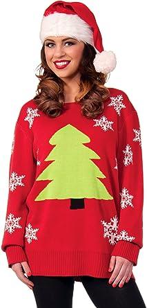 forum novelties novelty christmas tree sweater multi large - Adult Ugly Christmas Sweater