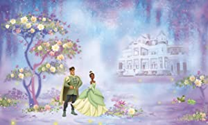 RoomMates Princess & Frog Chair Rail Prepasted, Removable Wall Mural - 6' X 10.5'
