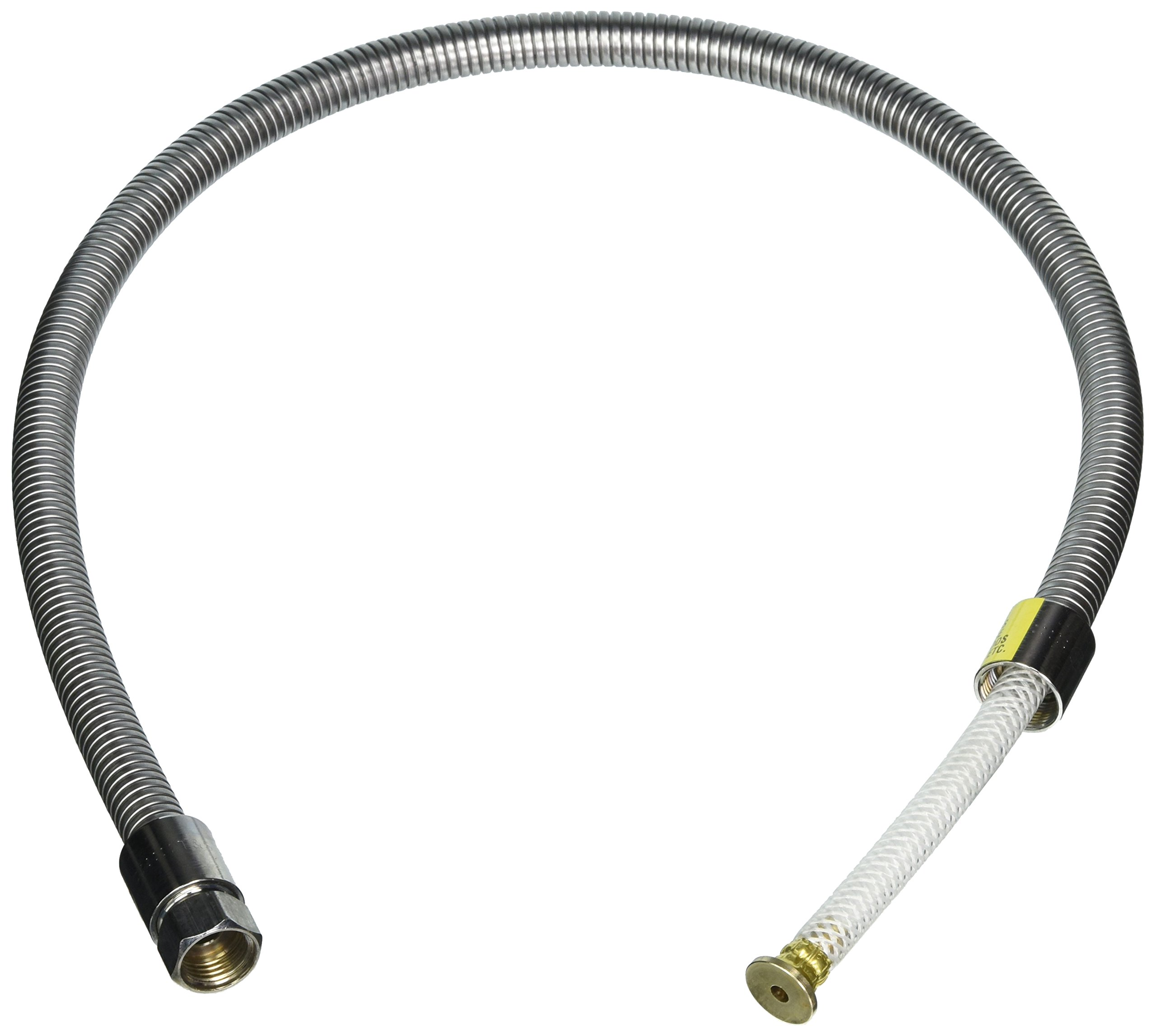 T&S Brass B-0044-H2A Flexible Hose, 44-Inch, Stainless Steel