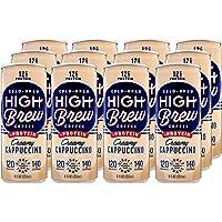 12-Pack High Brew Cold-Brew Coffee Creamy Cappuccino Plus Protein, 8 Fl Oz