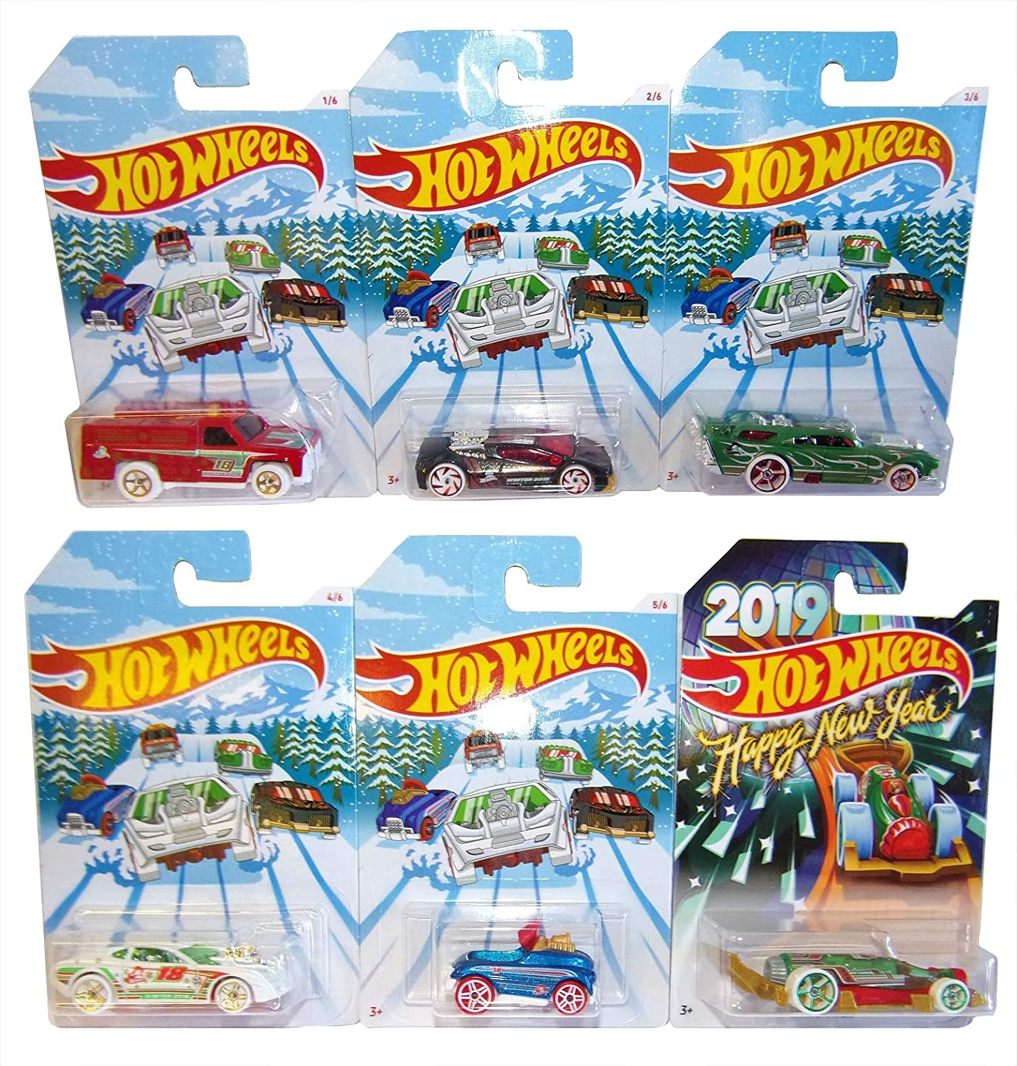 Hot Wheels Mattel Holiday Hot Rood 6 Pack Invierno 2018 Autos ...