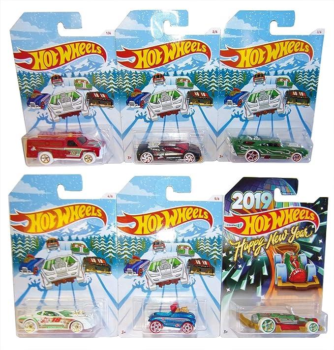 Hot Wheels Mattel Holiday Hot Rood 6 Pack Invierno 2018 Autos Modelo para niños y coleccionistas: Amazon.es: Juguetes y juegos