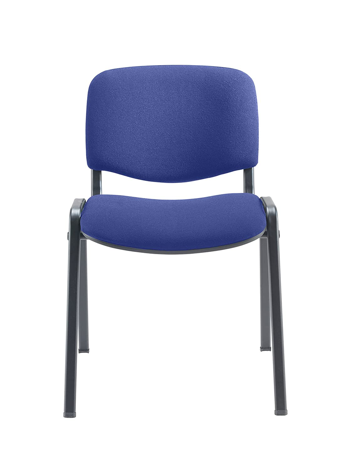 Office Hippo Heavy Duty Stackable Reception Chair Royal Blue Pack of 4 Fabric Black Frame