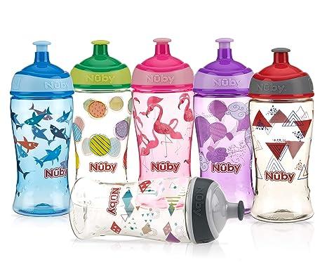 Nuby Baby Kid/'s Water Bottle Sport Sipper Leak Proof 300ml