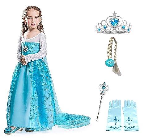 bb240ad24 Talla 150 - 11 - 12 años - Traje - Disfraz Flor Elsa con Accesorios ...