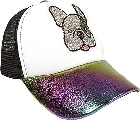 NEW Bari Lynn Crystallized Rainbow Lightening Bolt Emoji Trucker Hat