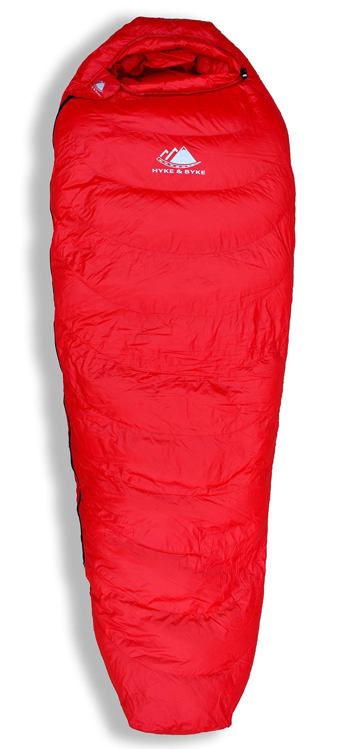 Hyke & Byke Quandary 15 Degree F 650 Fill Power Hydrophobic Down Sleeping Bag with ClusterLoft Base - Ultra Lightweight 3 Season Men's and Women's Mummy Bag Designed for Backpacking 8
