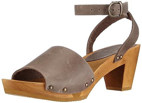 Edel Wedge Flex Sandal - Tira de Tobillo Mujer, Color Azul, Talla 39 Sanita