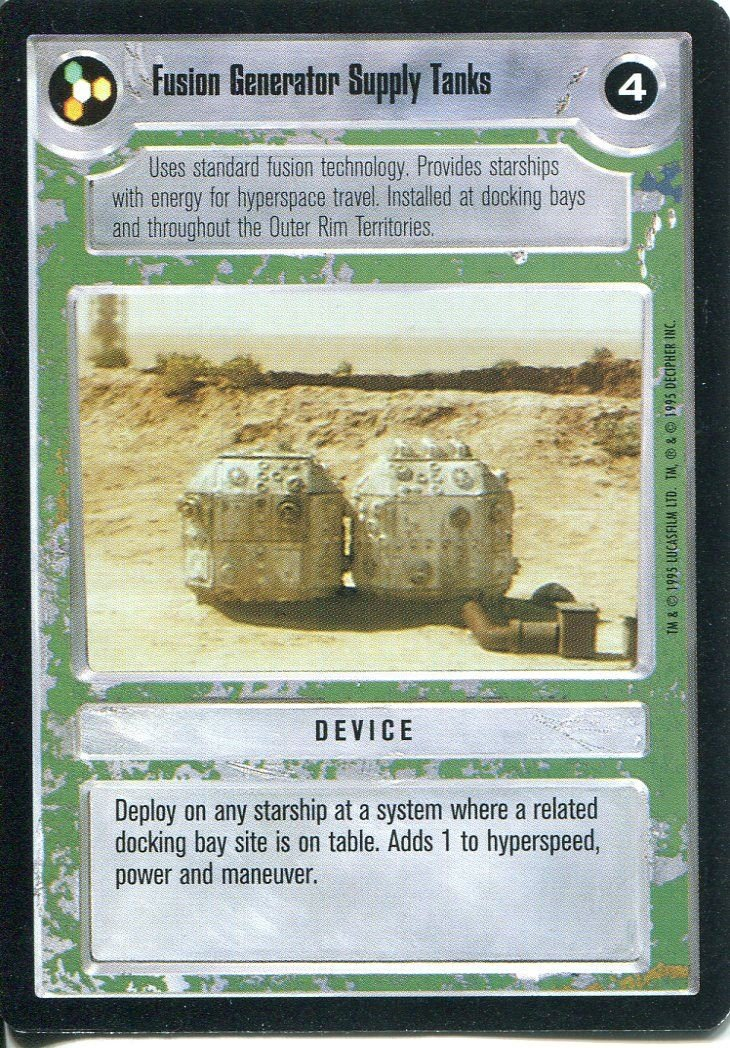 Star Wars CCG Premiere Black Border Fusion Generator Supply Tanks